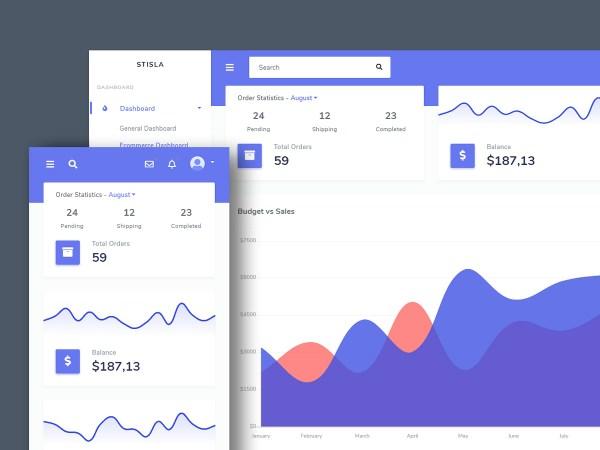 Stisla -  Bootstrap Free Admin Template 01