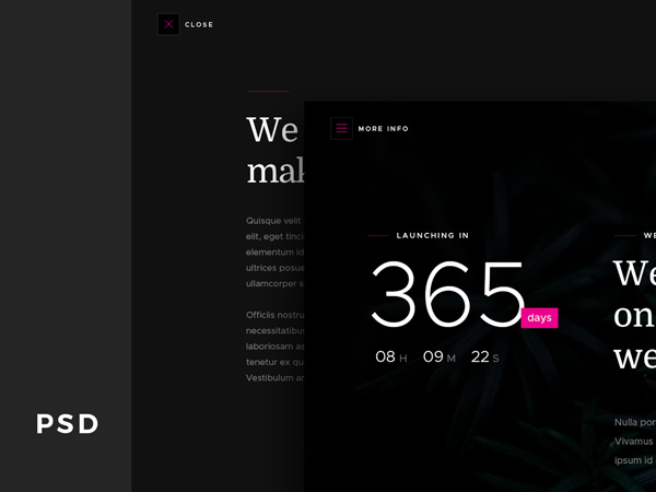 Count - Coming Soon Free PSD Template