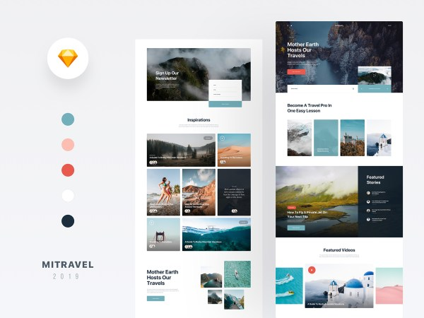 Mi Travel - Free Sketch Blog Template 01