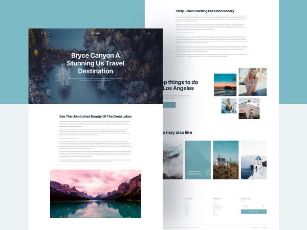 Mi Travel - Free Sketch Blog Template 02