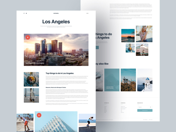 Mi Travel - Free Sketch Blog Template