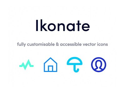 Ikonate is a nice collection of highly optimized, fully customizable and accessible, vector free icons. 100% free and open-source. It is so easy to customize the icons. You can change the stroke widths, corner styles, color, size and then export the icons as a set.