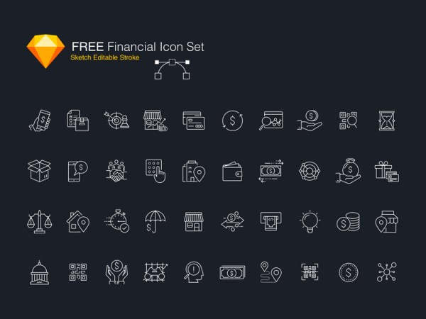 Free Financial Icon Set