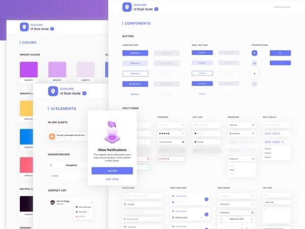 Eggplore Free UI Style Guide