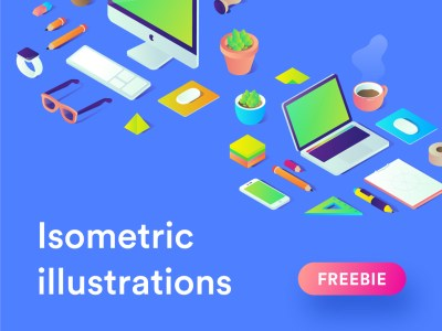Free Isometric Illustrations