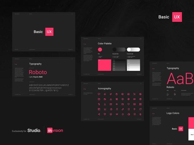 Basic UX — Free Design Resources for InVision Studio 01