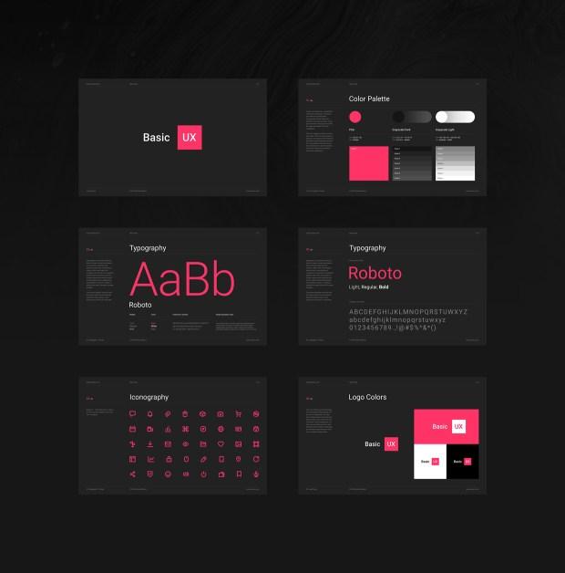 Basic UX — Free Design Resources for InVision Studio 02