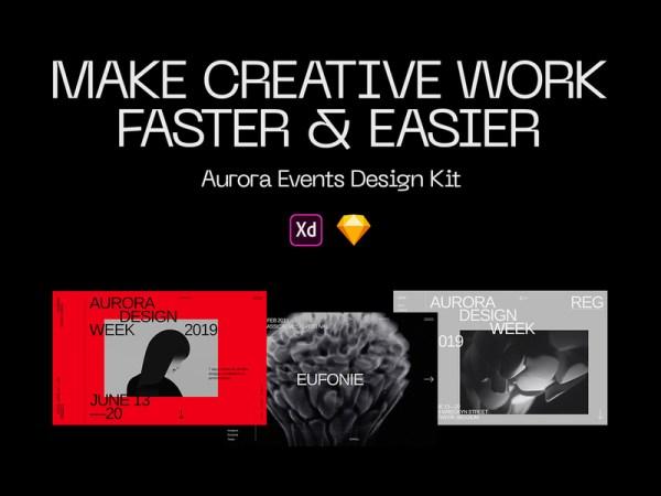 Aurora - Free Web Elements Design Kit