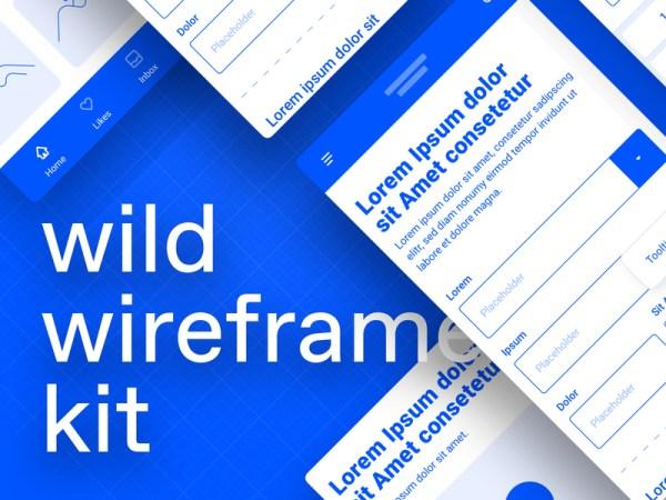 Wild Wireframe Kit Freebie