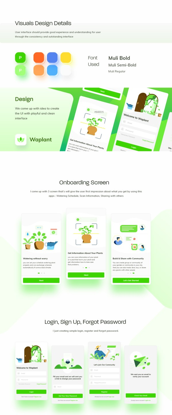 Waplant Mobile Apps Free UI kit 01