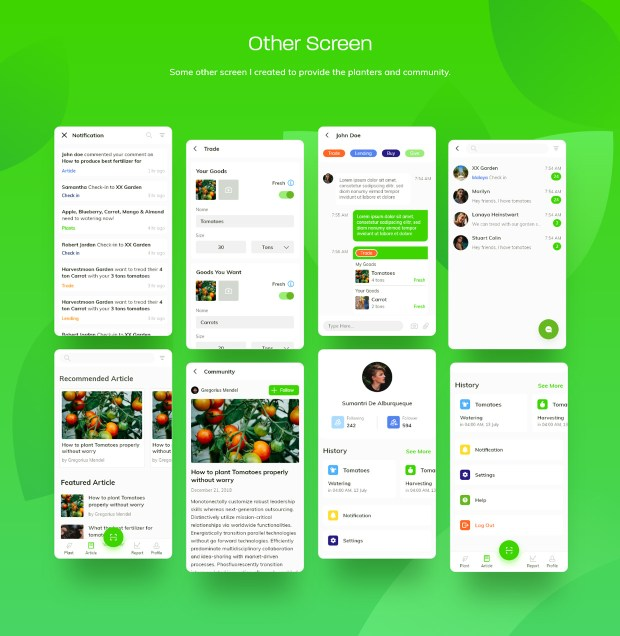 Waplant Mobile Apps Free UI kit 04
