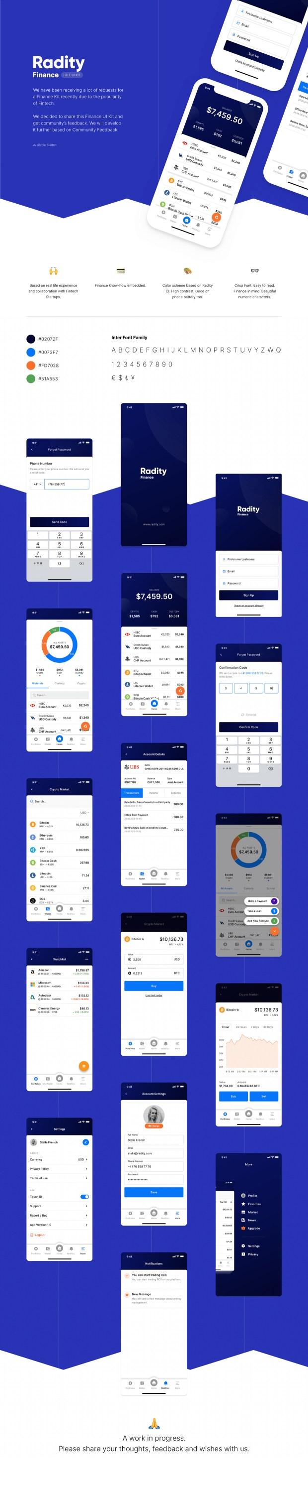 Radity Finance  Free UI Kit