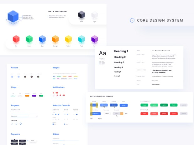 Core Design System - Free Sketch File 02