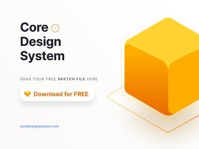Core Design System - Free Sketch File