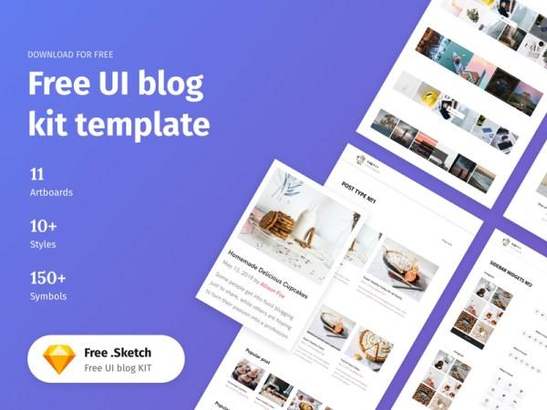 Free UI Blog Kit Template