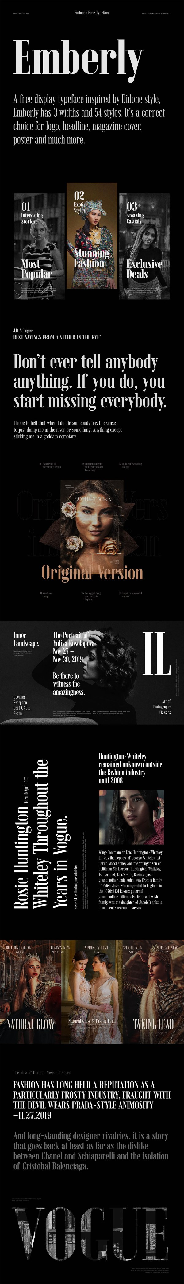 Emberly - Free Typeface in 54 Styles