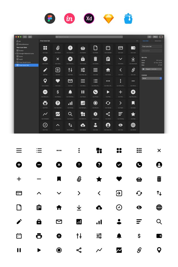 Free Essential Icons Set