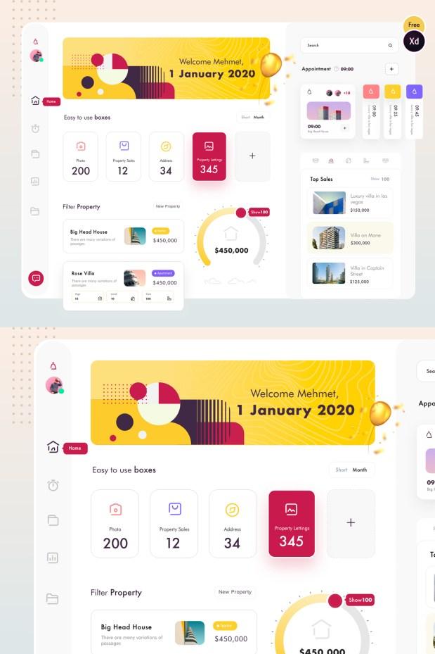 Property Dashboard Free UI Kit