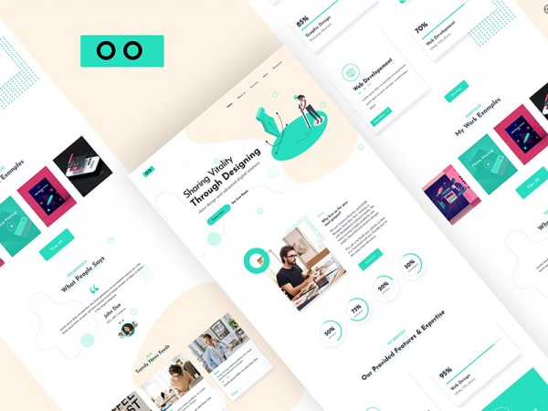 Free Agency Web Design for Adobe XD
