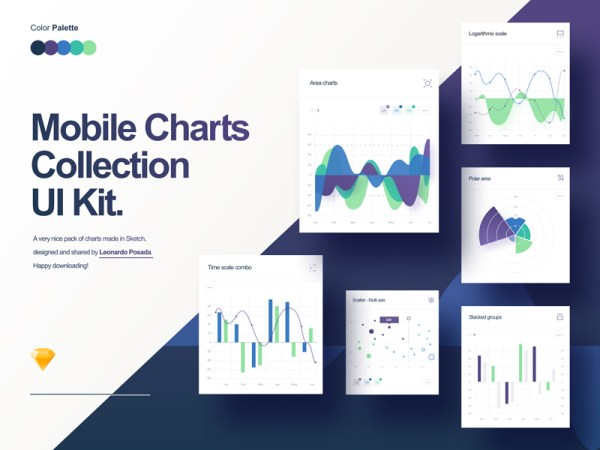 Mobile Charts Free UI Kit