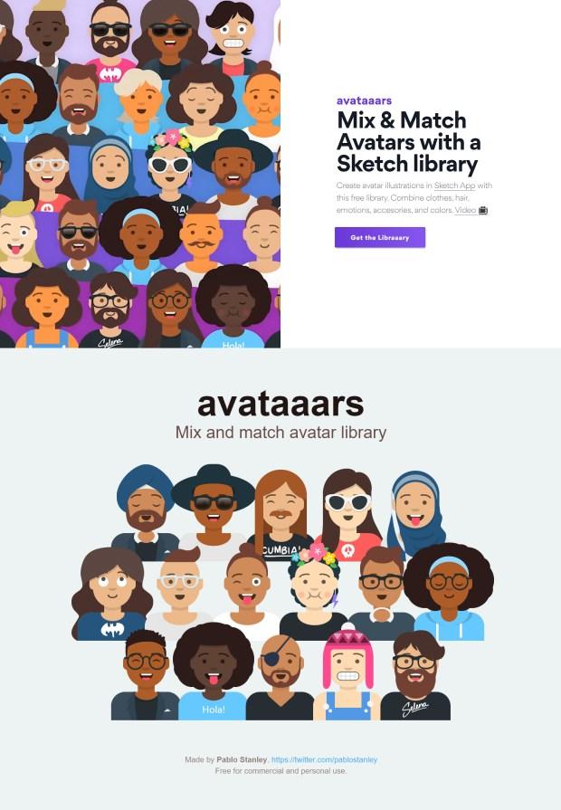 Avataaars — Avatar Illustrations Free Sketch Library