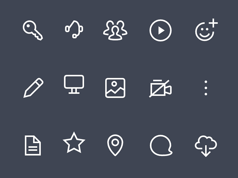 Icon Set Freebie for Sketch