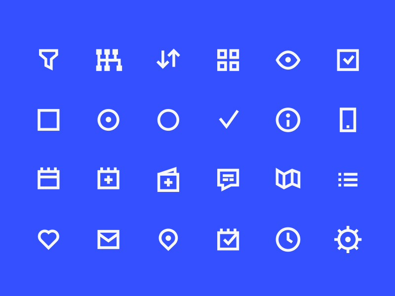 98 UI Pixel Perfect Free Icons Set