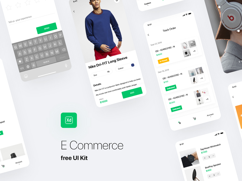 E-commerce App Free UI Kit