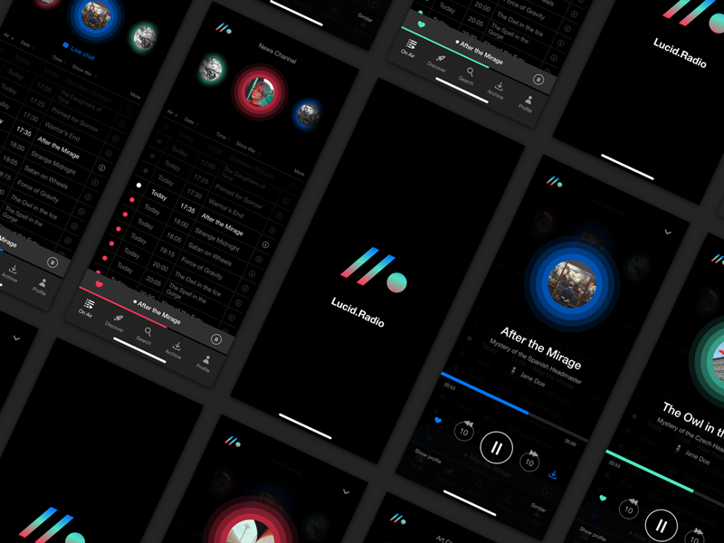 Free Radio App UI Kit