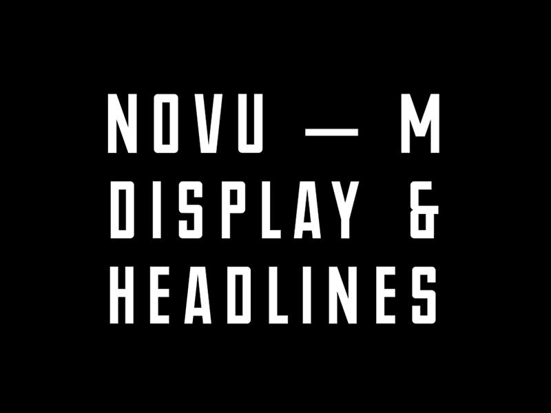NOVU-M Free Font