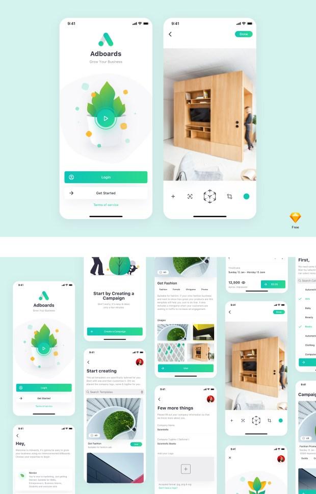 Adboards Free UI Kit for Sketch