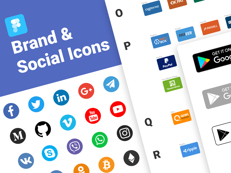 Free Brand & Social Icons for Figma