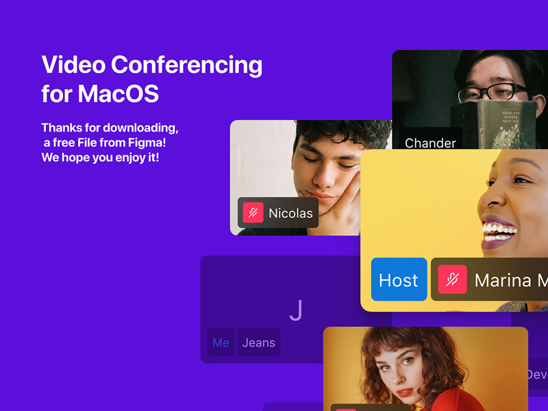 Free Video Conferencing App UI Kit