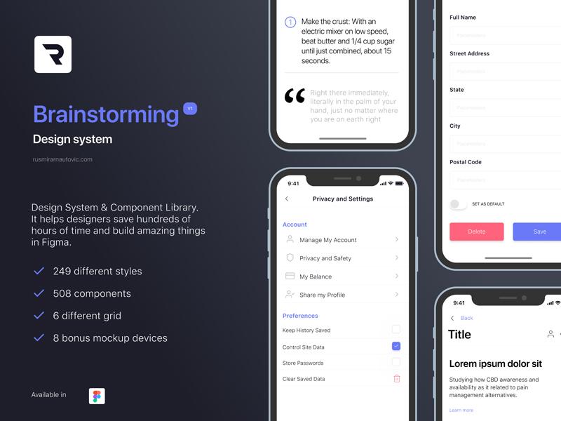 Brainstorming Design System