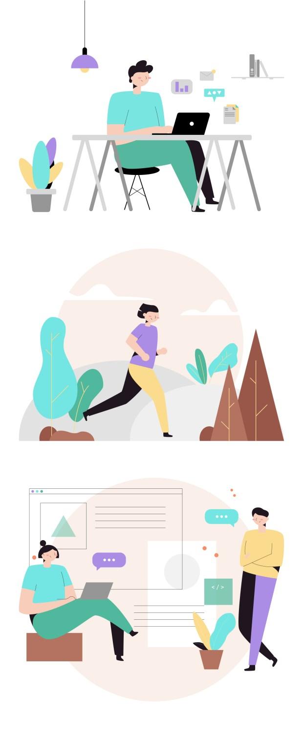 Peach — Free Illustration System