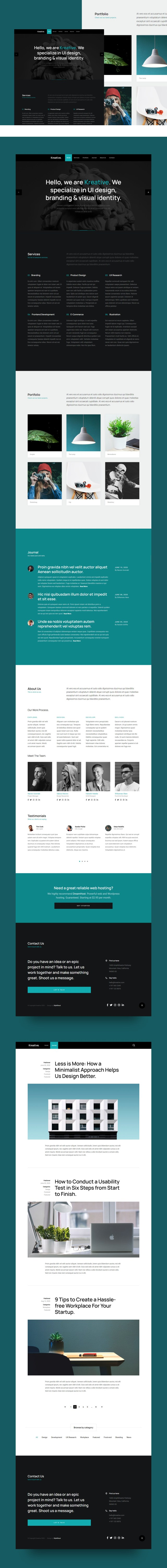 Kreative — Free HTML Agency Website Template