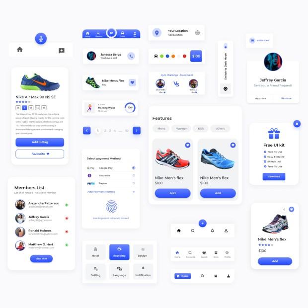 22+ Components Free UI Kit