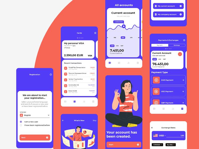24B - Banking App Free UI Kit