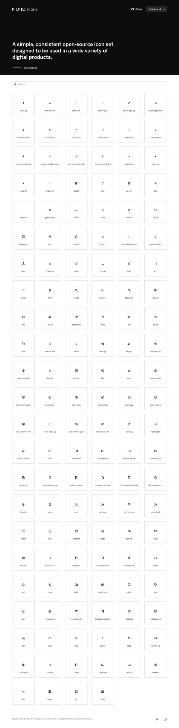 Mono Icons — Free Icons for UI Design