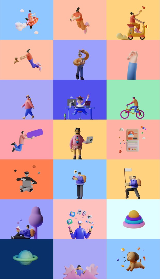 SALY —  Free 3D Illustration Pack for Figma