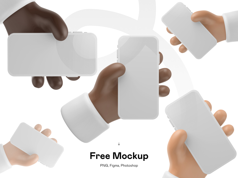 Free 3D iPhone Mockup