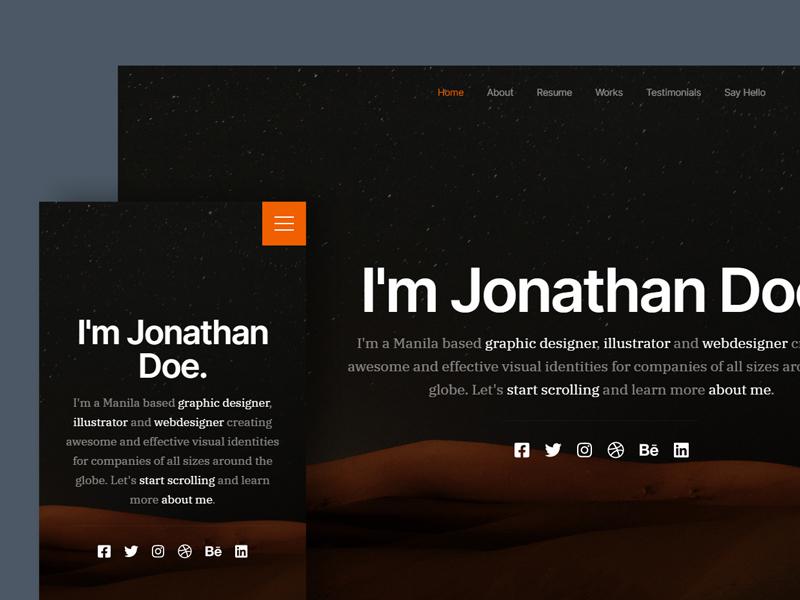 Ceevee — Free Personal CV HTML Website Template