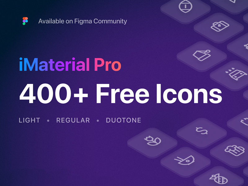 iMaterial Pro 400+ Free Icons