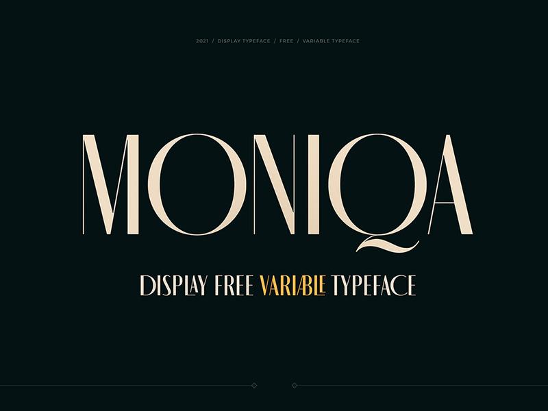 Moniqa Free Typeface