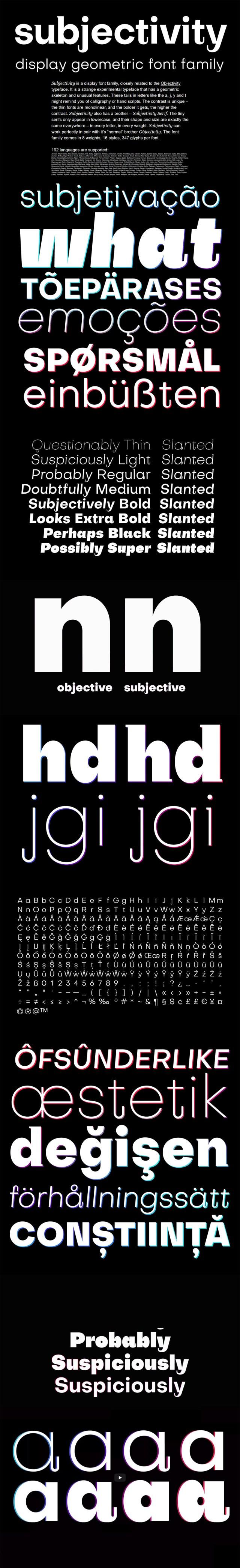 Subjectivity — Free Display Font Family