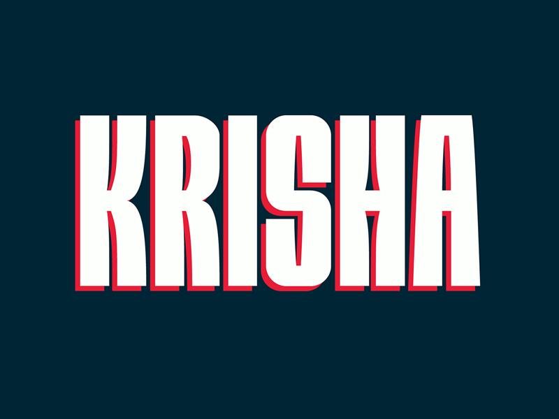 Krisha — Free Bold Display Font