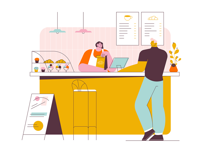 Restaurants & Dining Free Illustrations