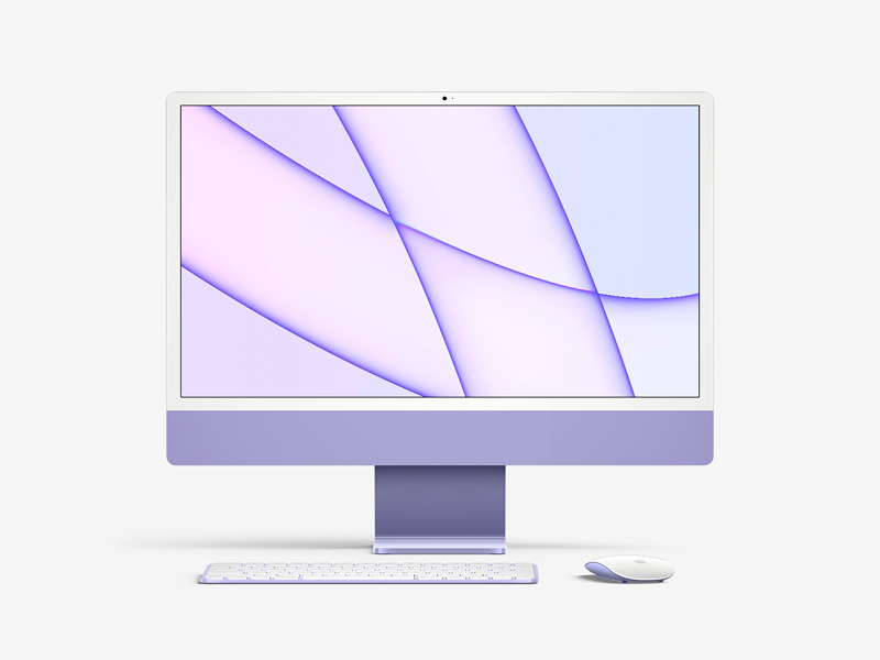 Free iMac 24-inch (2021) Mockup