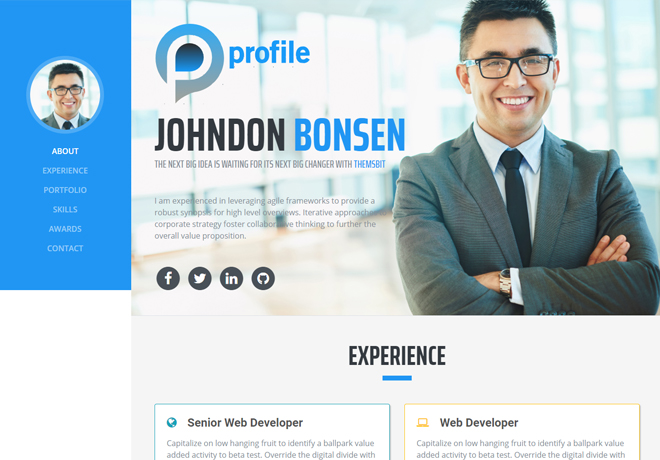 Cca spark and hadoop developer certification; 41 High Quality Free Responsive Personal Portfolio Cv Resumes Templates In 2018
