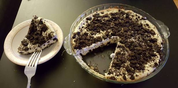 Homemade oreo cheesecake. Pure indulgence. Something to look forward to after a long week of work during bus season.